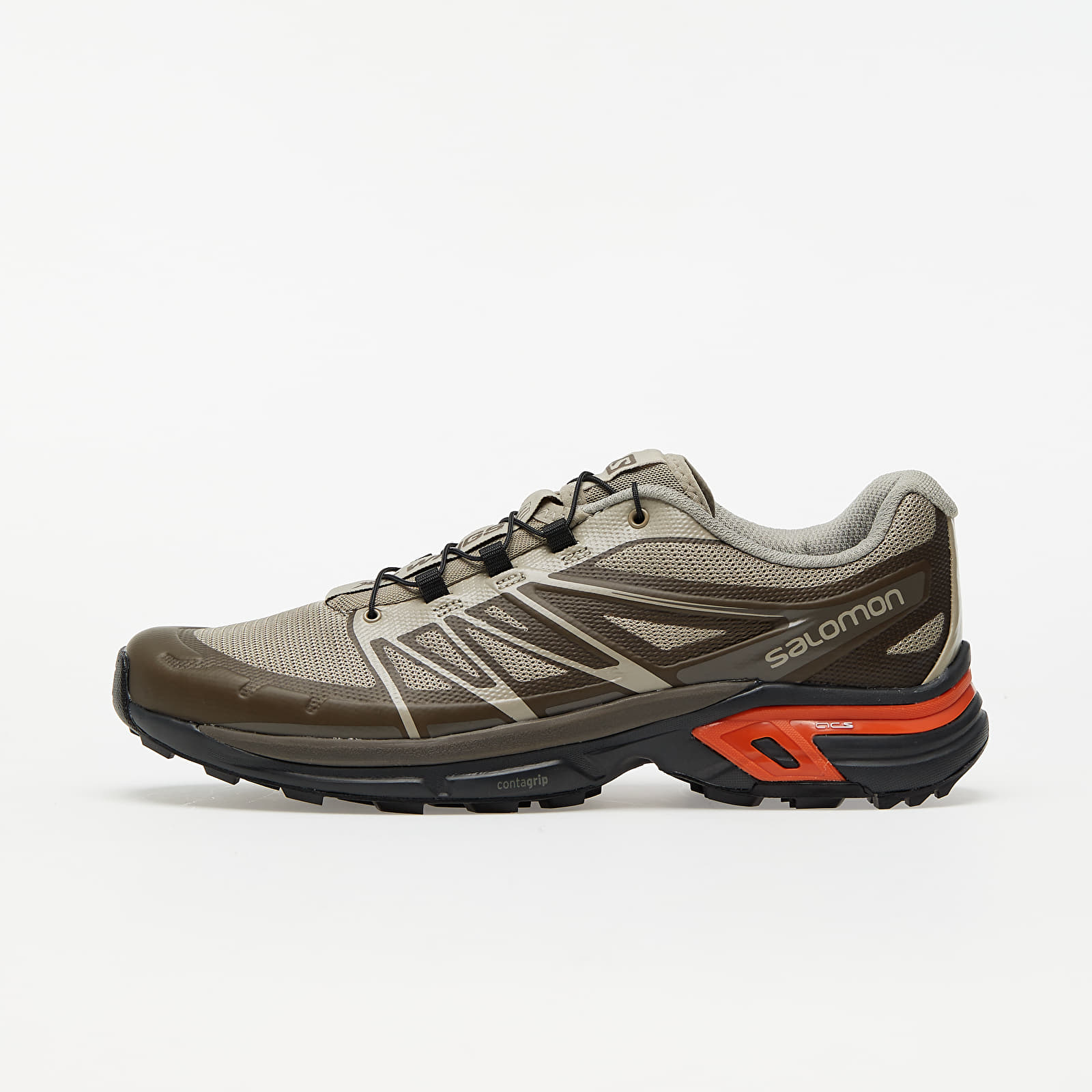 Мужская обувь Salomon XT-Wings 2 Advanced Vintage Kaki/ Ebony/ Autumn Blaze