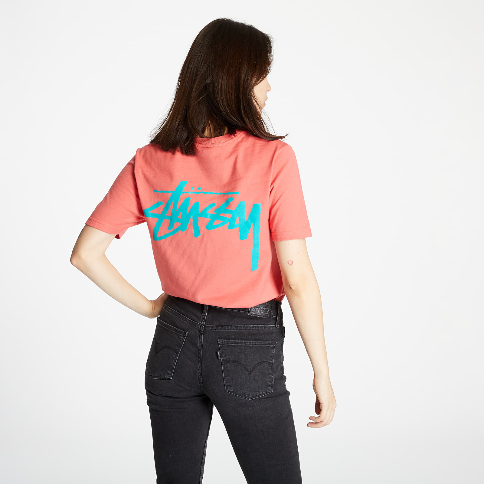 T-shirts Stüssy Classic Stock Tee Pale Red