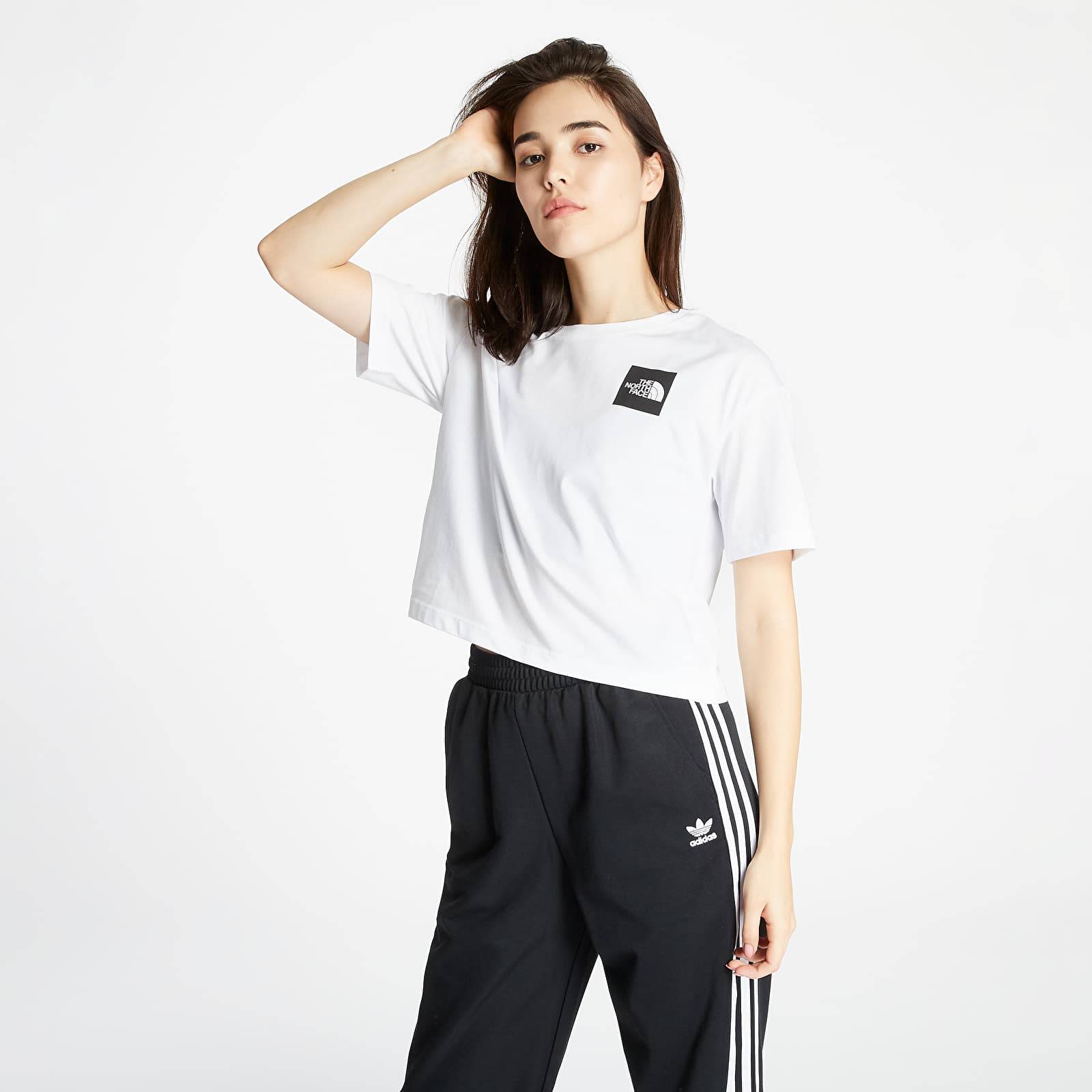 Tricouri The North Face Cropped Fine Tee Tnf White