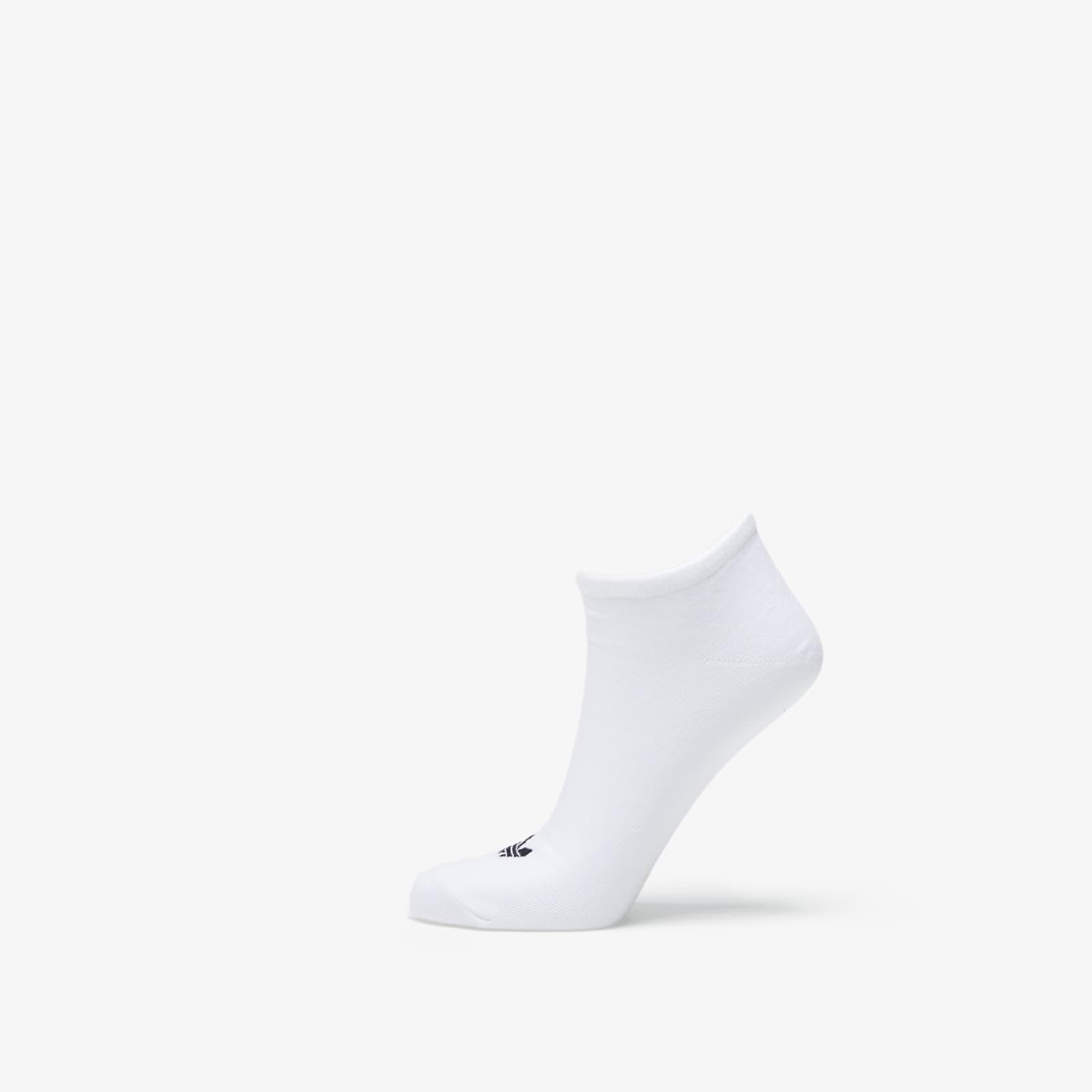 adidas 3 Pack Trefoil Liner Socks White/ Black/ Mgreyh 35-38