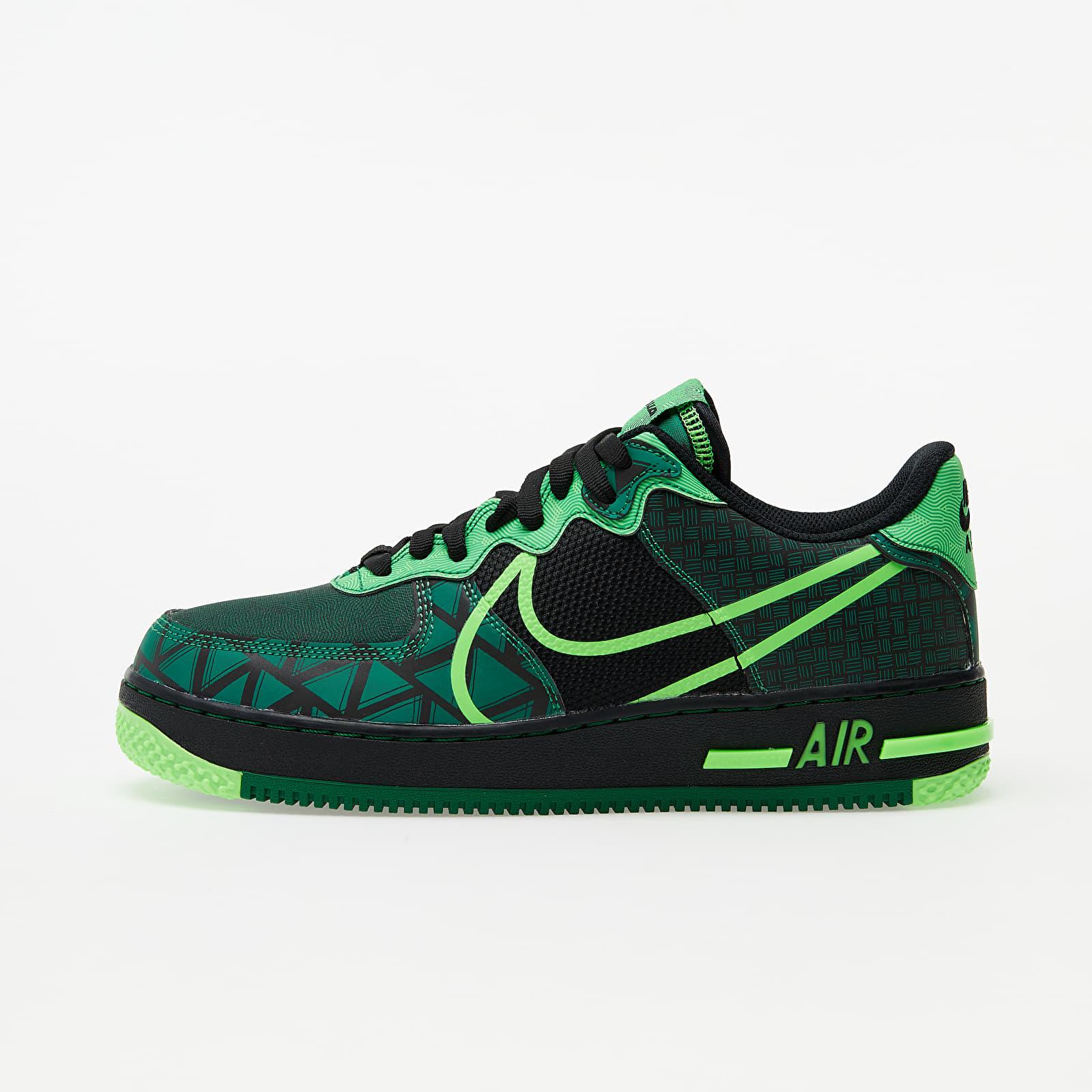 Men's shoes Nike Air Force 1 React QS Black/ Green Strike-Pine Green