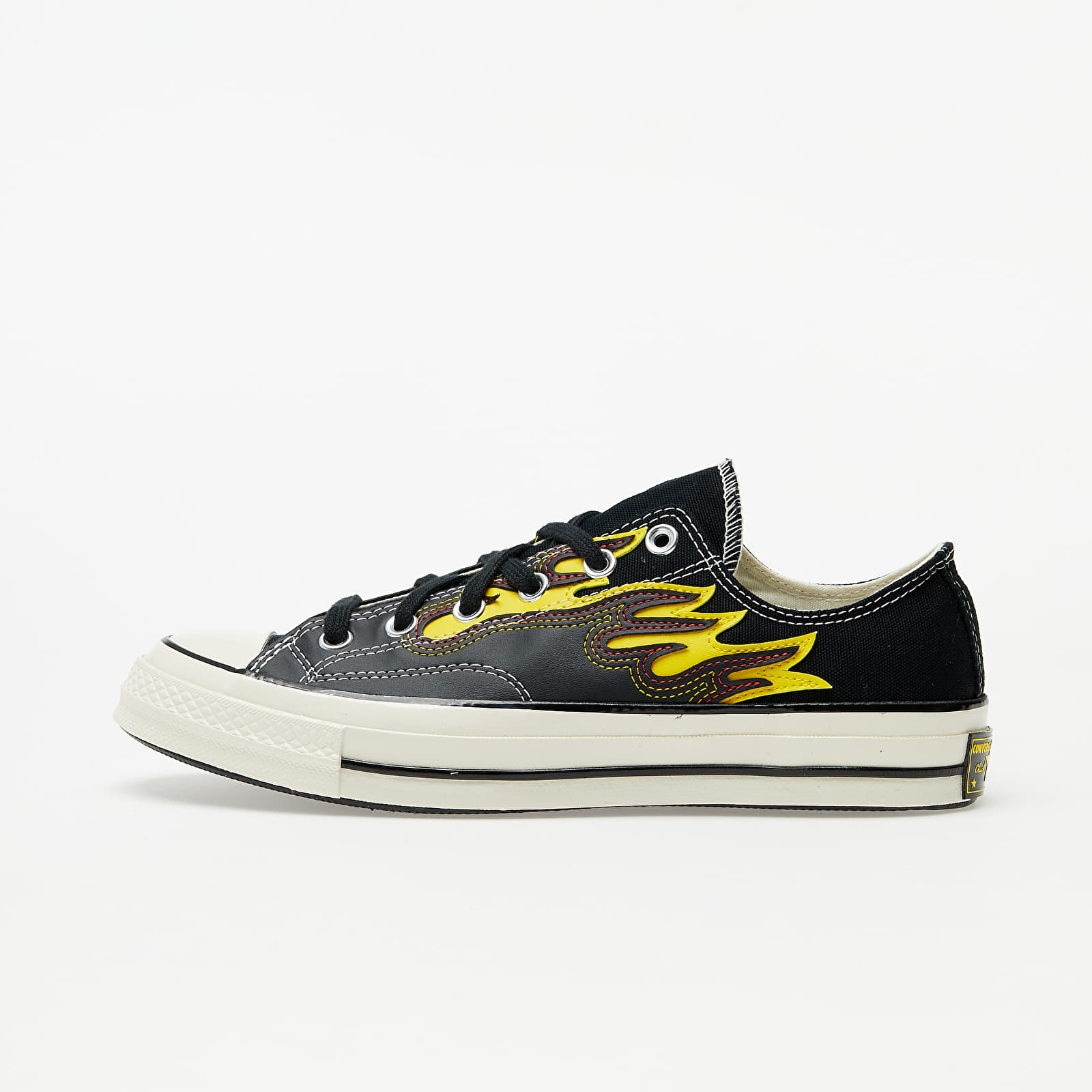 Chaussures et baskets homme Converse Chuck Taylor All Star 70 Ox Black/ Speed Yellow/ Egret