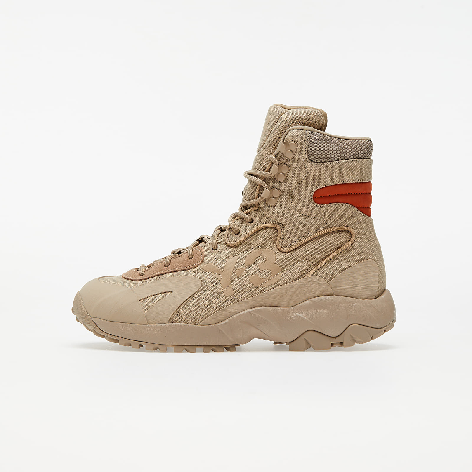 Chaussures et baskets homme Y-3 Notoma Trace Khaki/ Trace Khaki/ Fox Orange