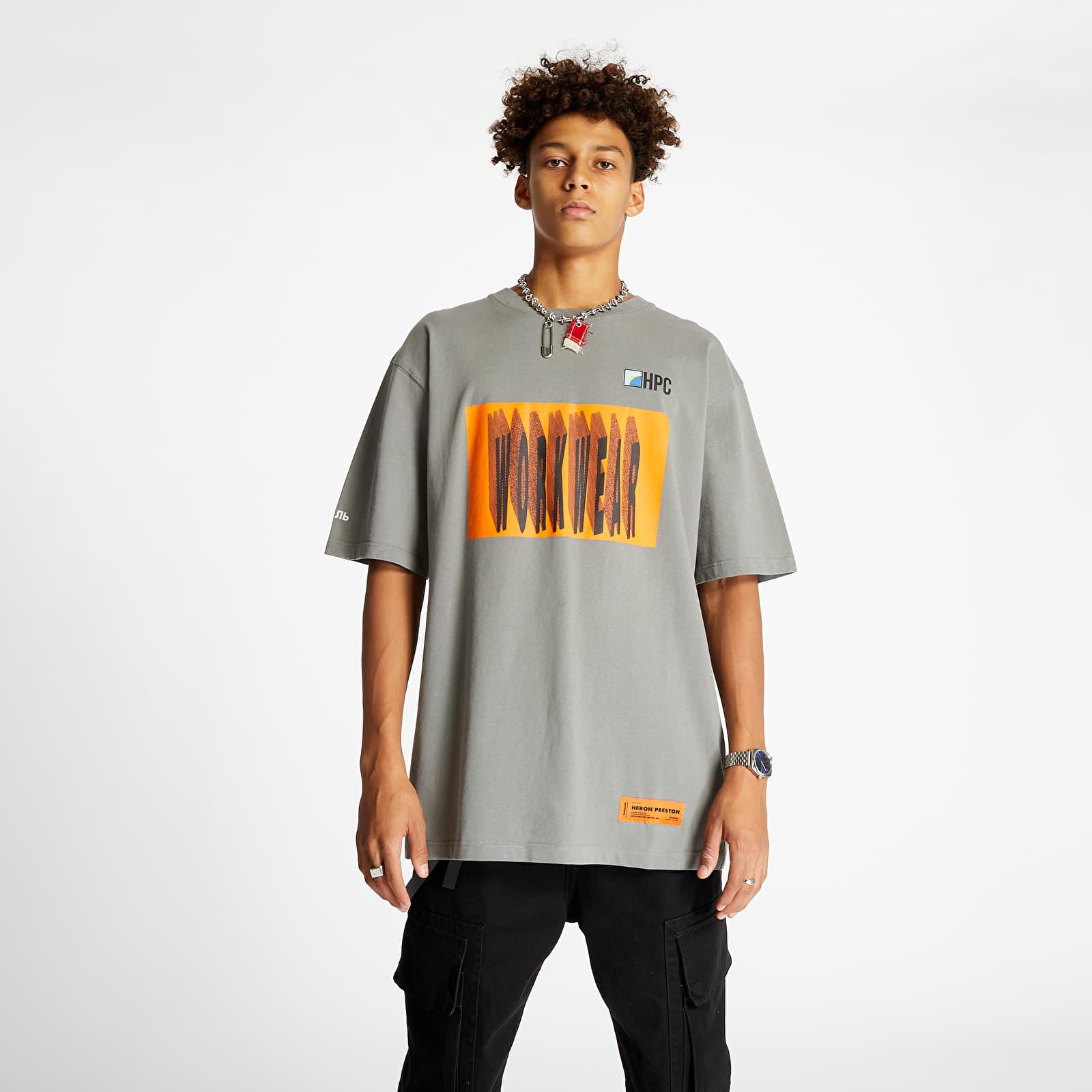 Tricouri HERON PRESTON Workwear Tee Grey/ Orange