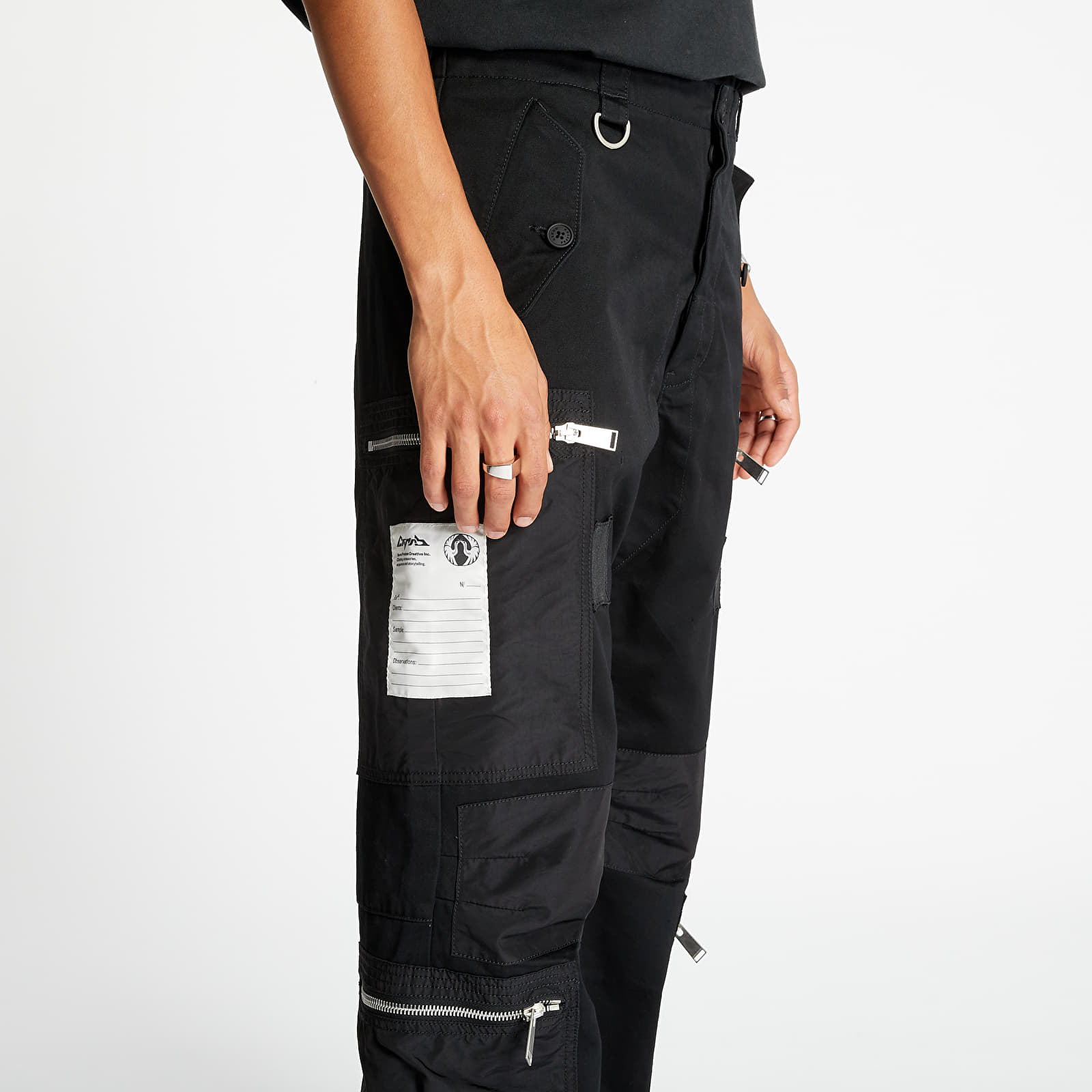 Jeans e pantaloni HERON PRESTON Pants Black