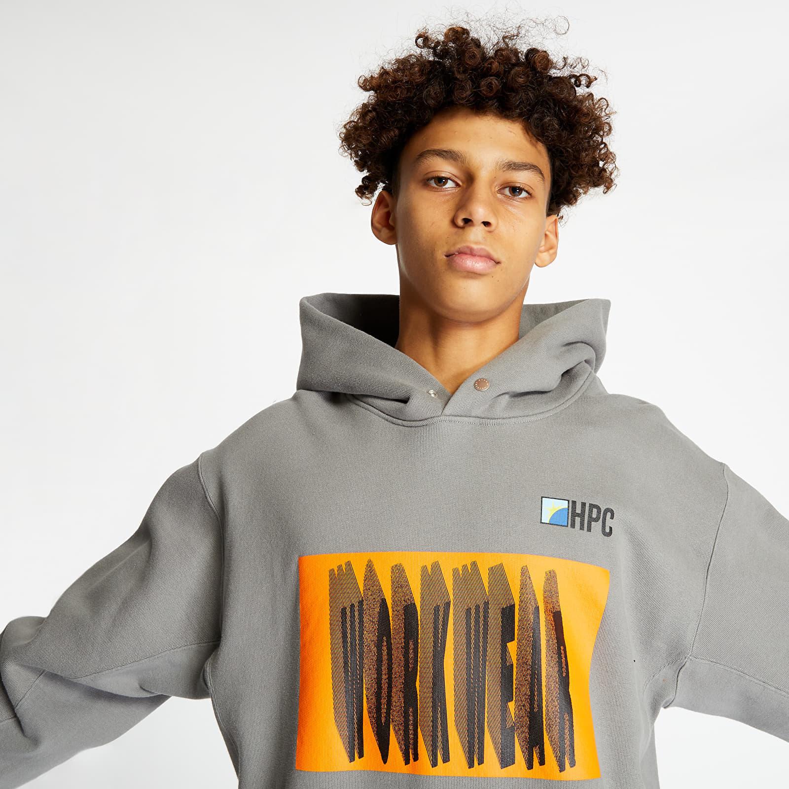Hanorace și bluze HERON PRESTON Workwear Rib Hoodie Grey/ Orange