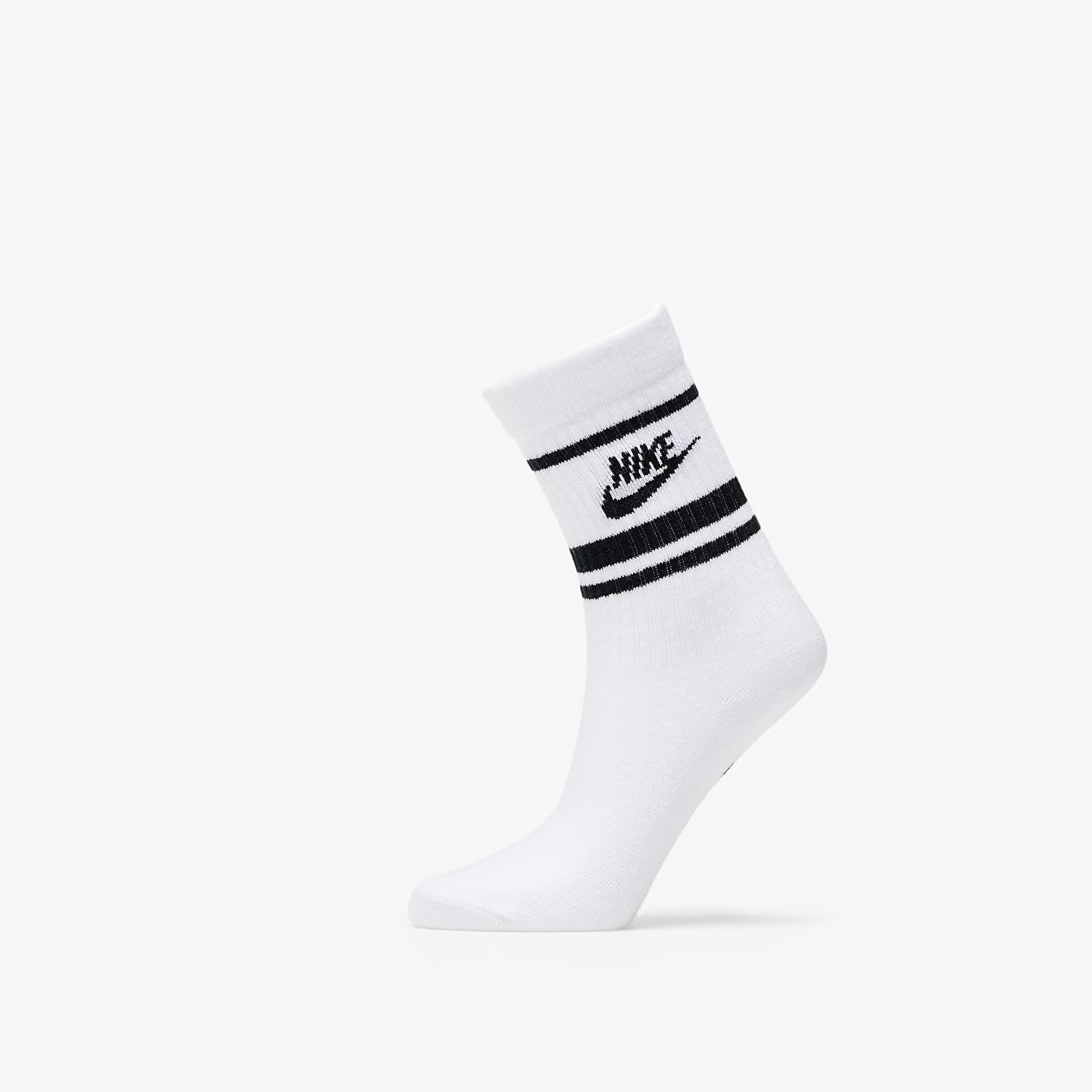 Nike Sportswear Essential Crew Socks (3 Pairs) White/ Black/ Black M