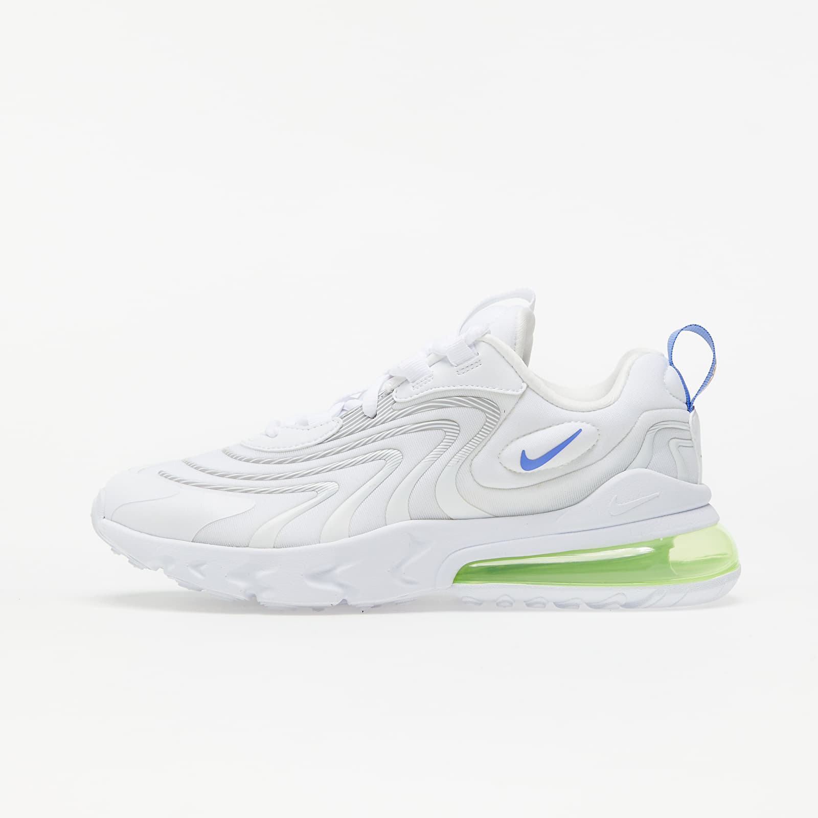 Kid´s shoes Nike Air Max 270 React ENG GS White/ Sapphire-Laser Orange-Aurora Green