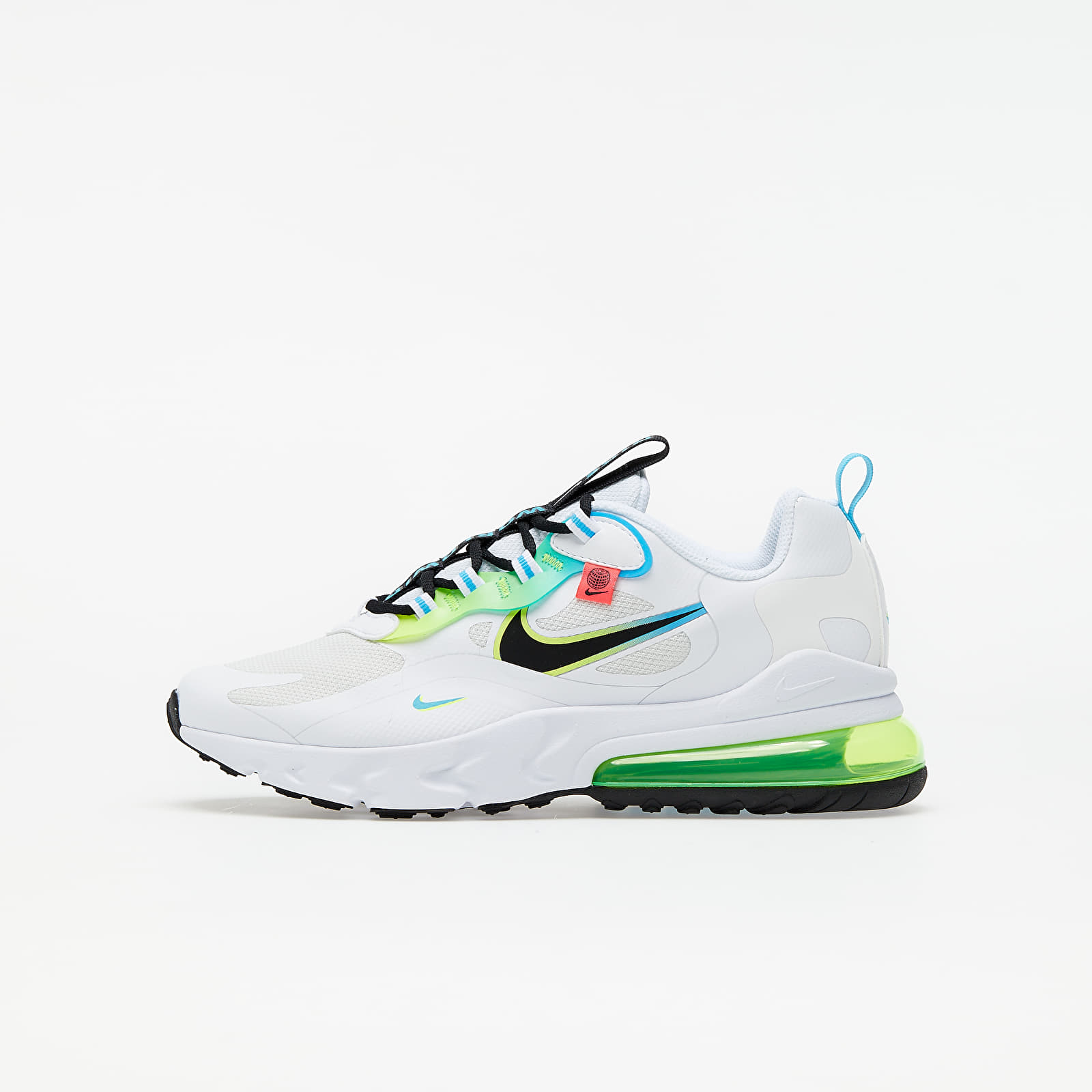 Kid´s shoes Nike Air Max 270 React GS White/ Black-Blue Fury-Volt