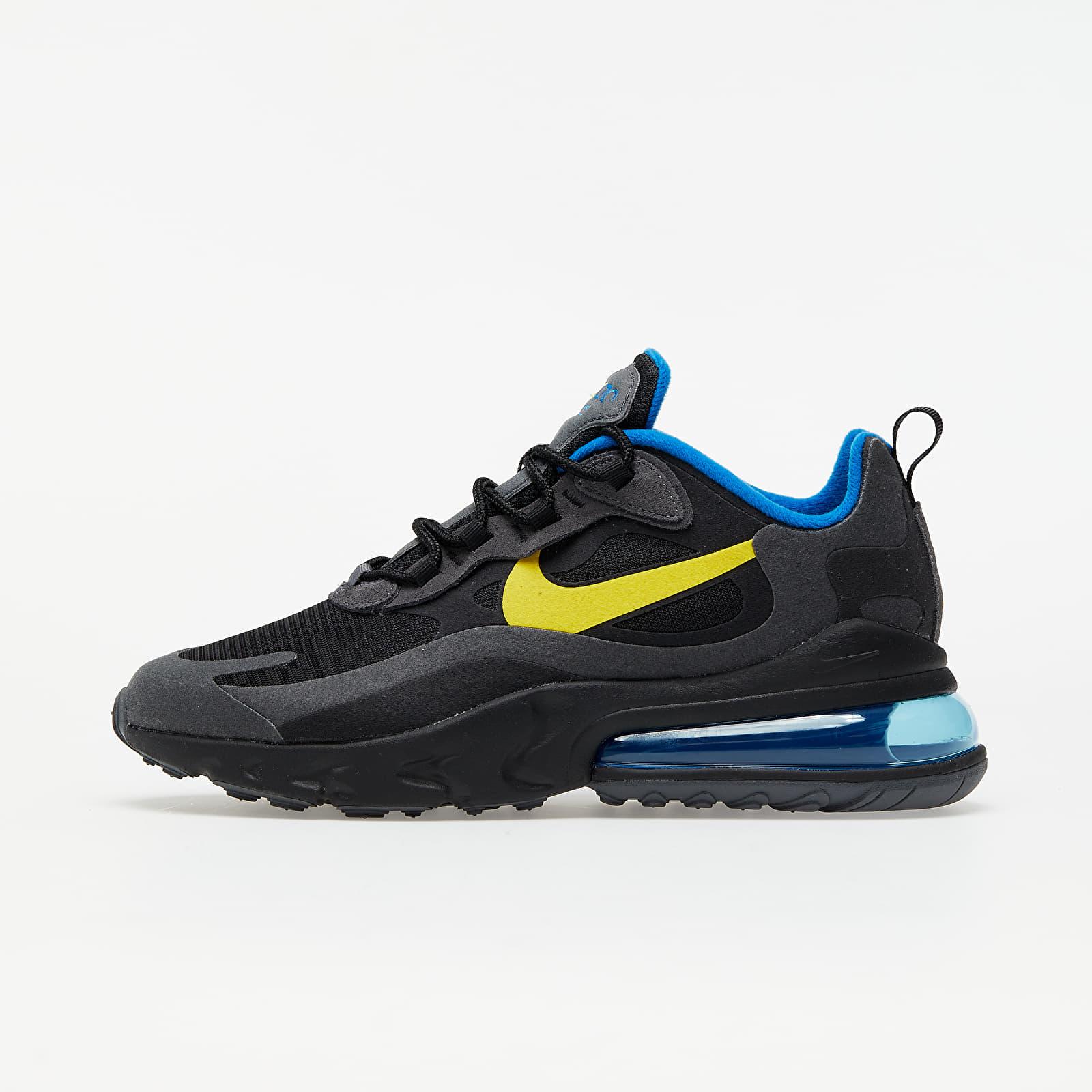 Chaussures et baskets homme Nike Air Max 270 React Black/ Tour Yellow-Dark Grey-Blue Spark
