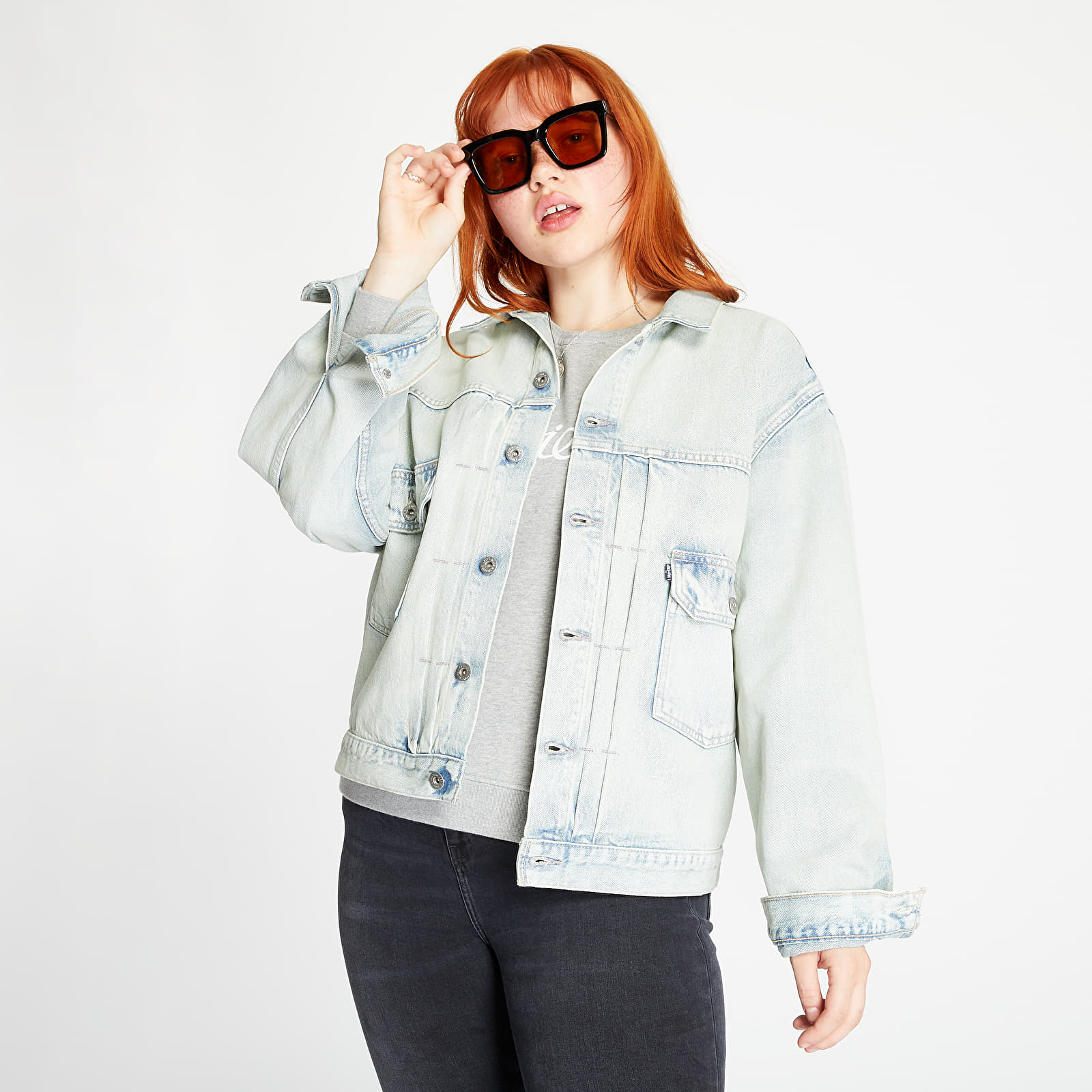 Jackets Levi's Love Letter Trucker Jacket Light Blue Denim