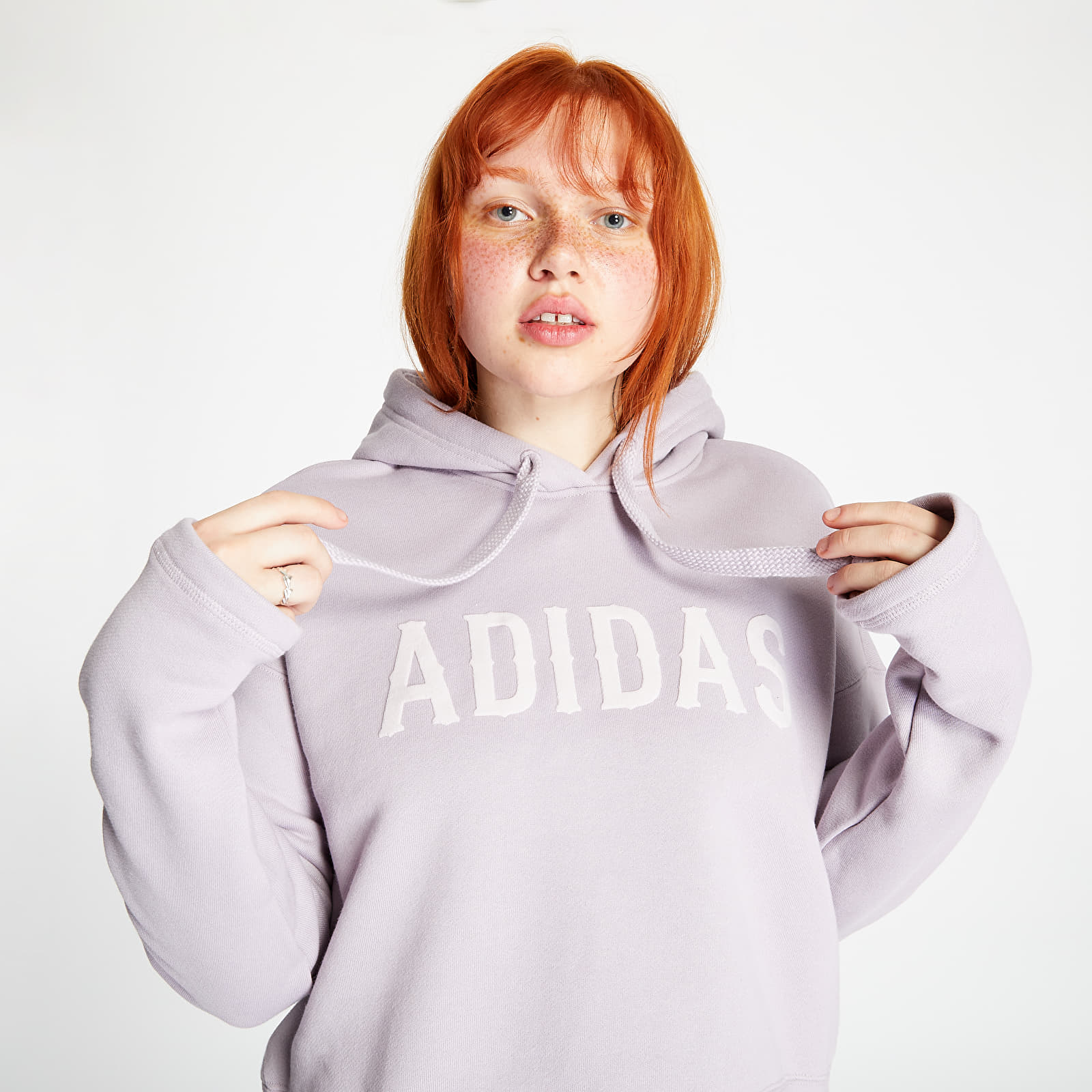 Mikiny a svetry adidas Cropped Hoodie Soft Vision