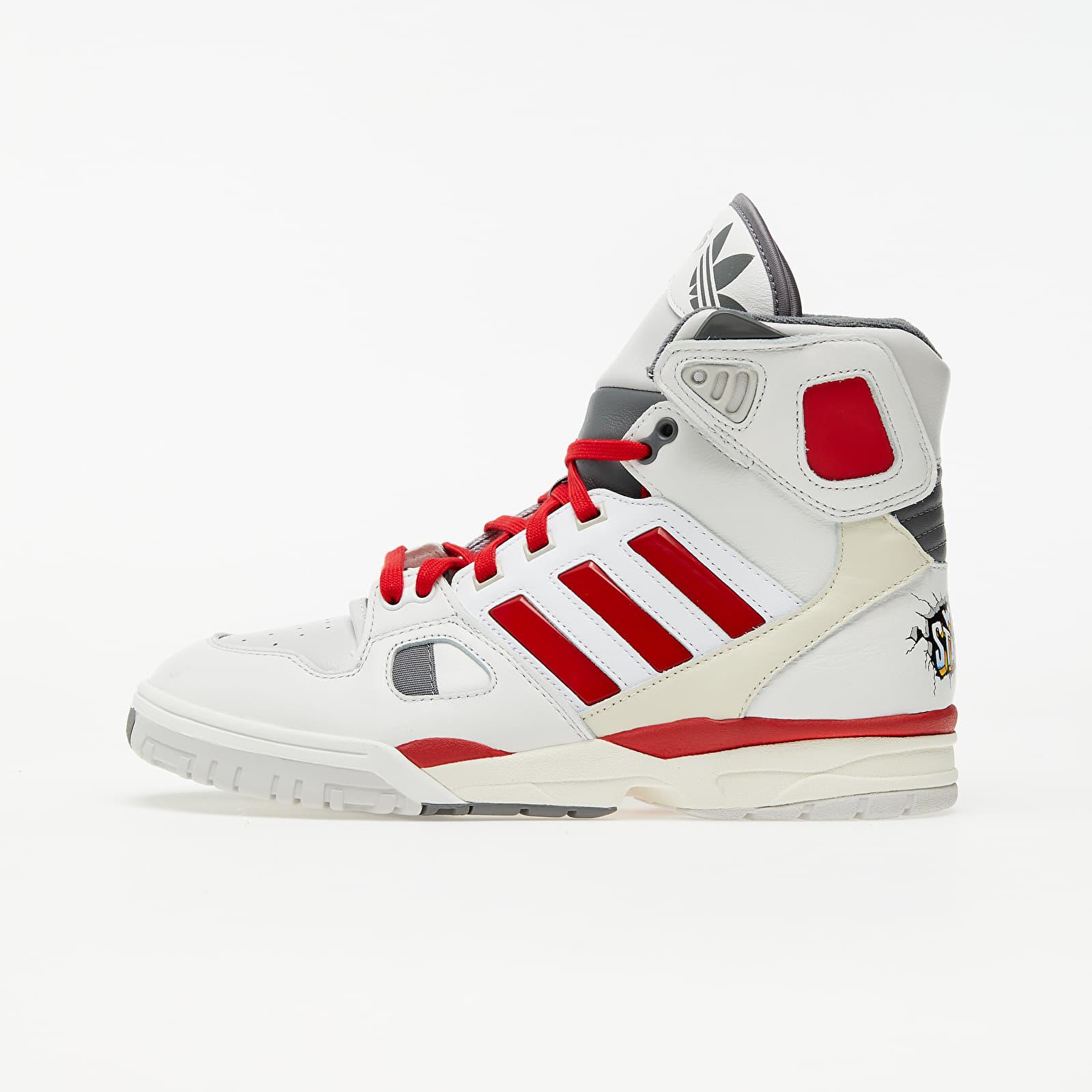 Men's shoes adidas x Kid Cudi Torsion Artiller Crystal White/ Scarlet/ Off White