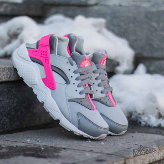 huaraches pink and grey