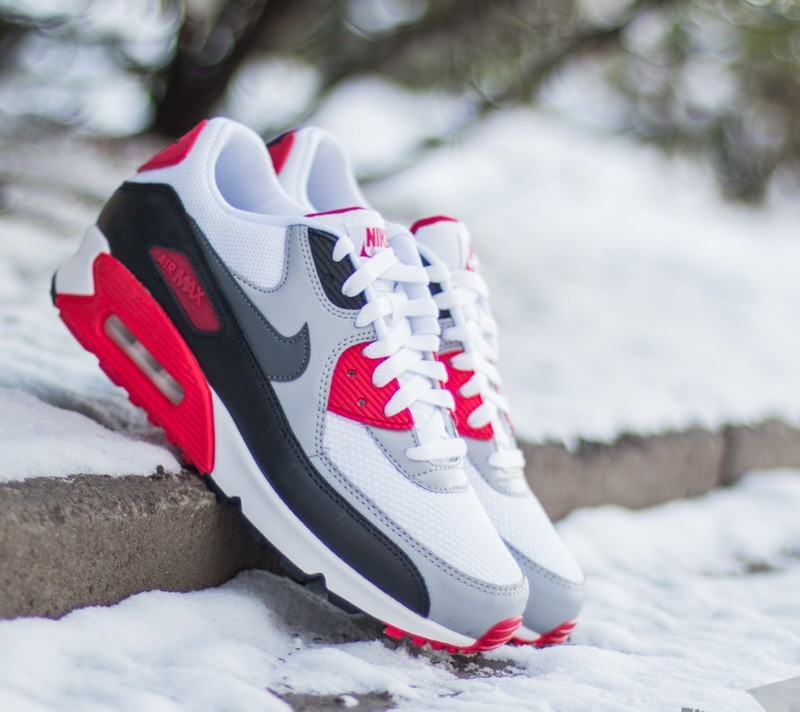 Nike Air Max 90 Essential White Dark Grey-Wolf Grey-Black  10758d941