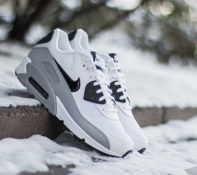 premium selection cf0b1 80bb9 Nike Wmns Air Max 90 Essential White Black-Wolf Grey