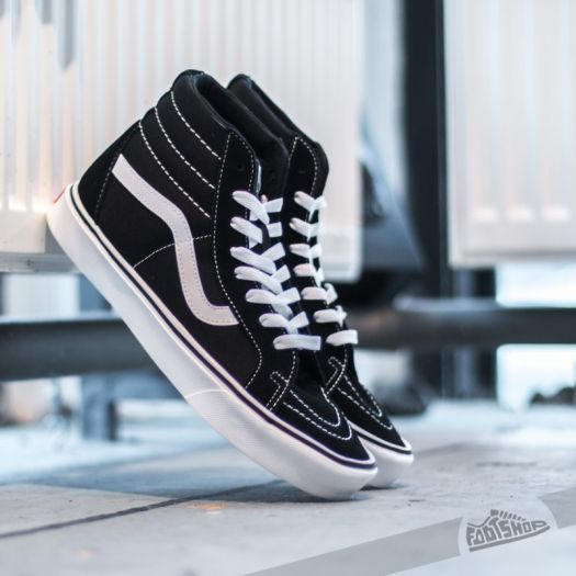 Vans Sk8 Hi Lite + Suede Canvas Black White | Footshop