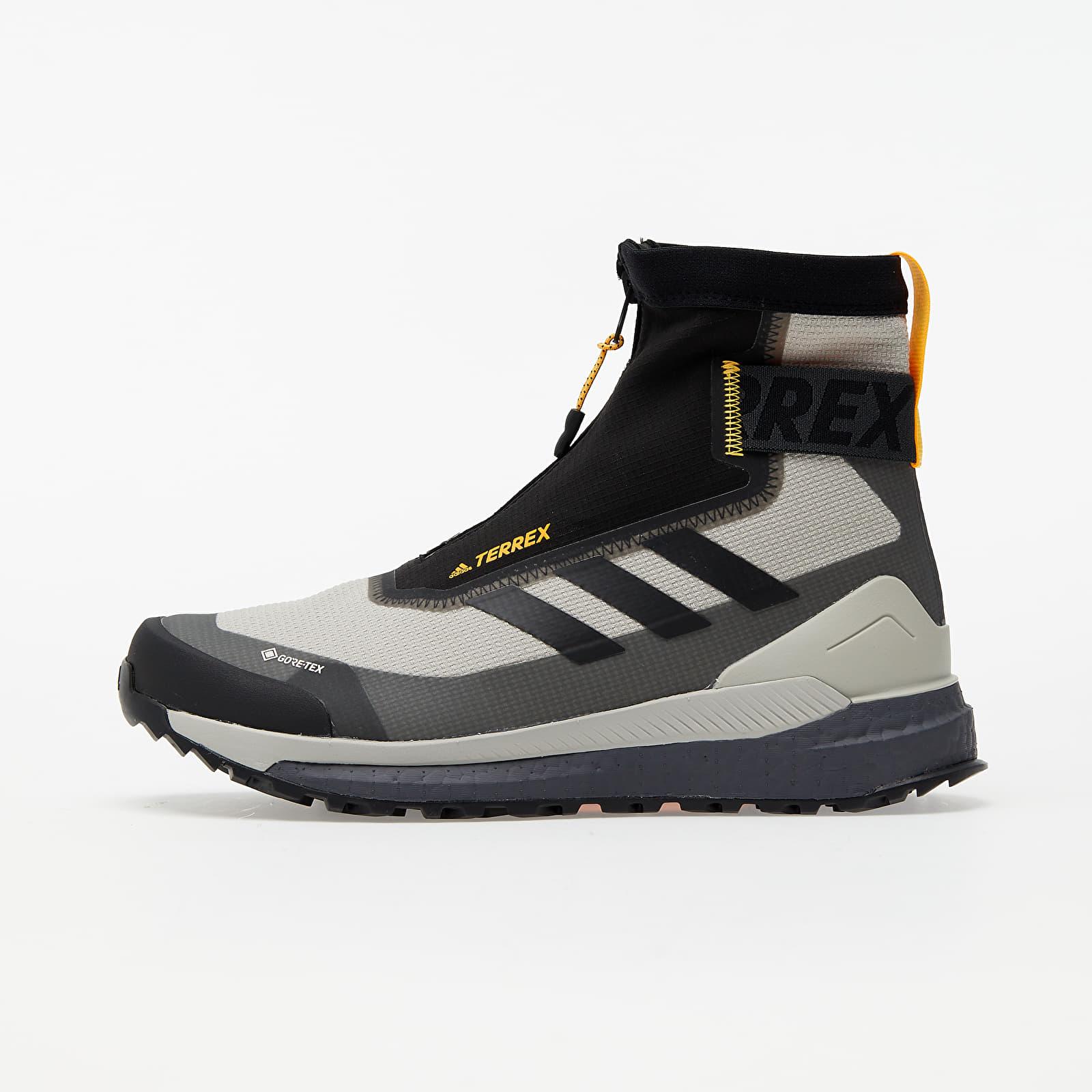 Pánske tenisky a topánky adidas Terrex Free Hiker COLD.RDY Metalic Grey/ Core Black/ Solid Gold