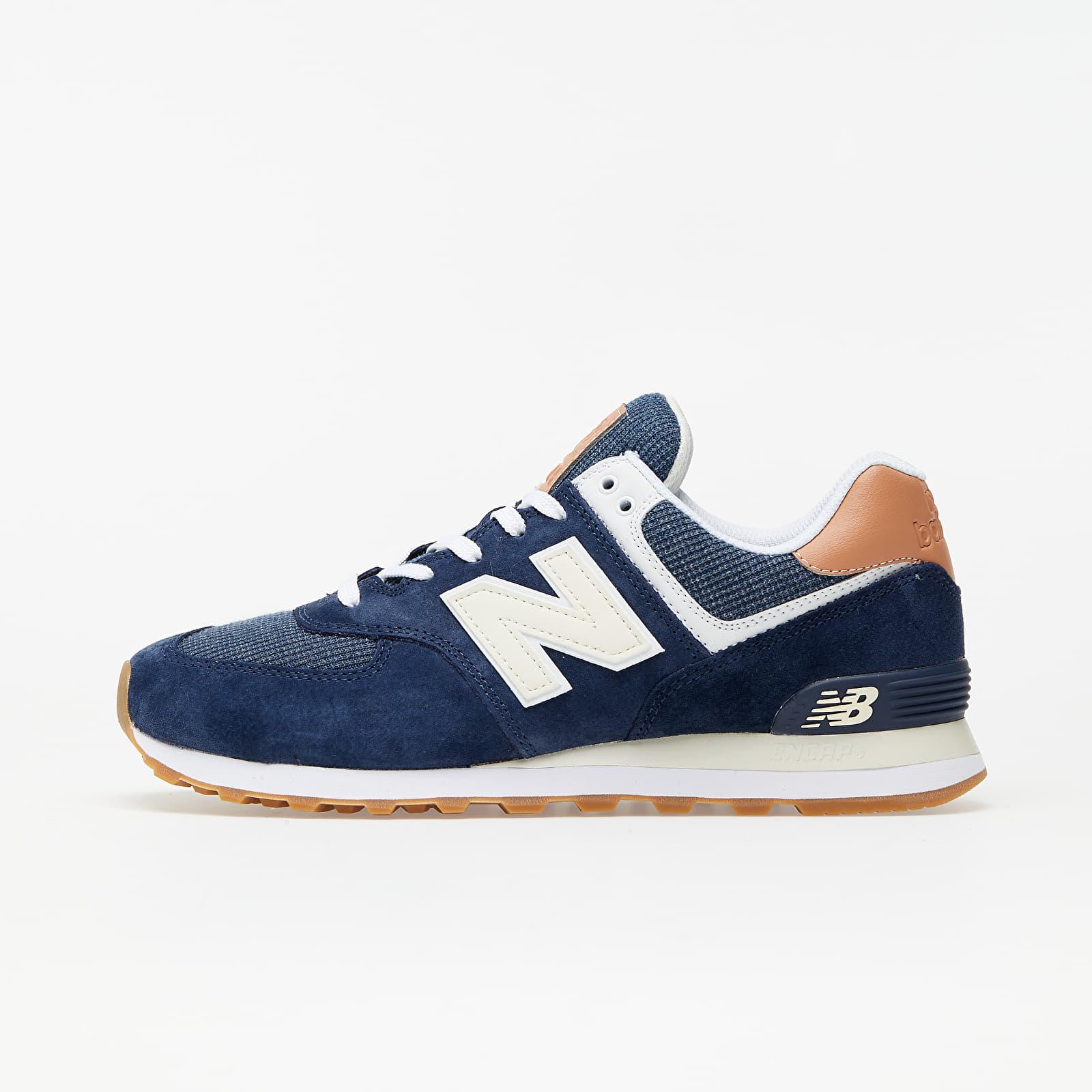 New Balance 574 Navy Blue/ Brown | Footshop