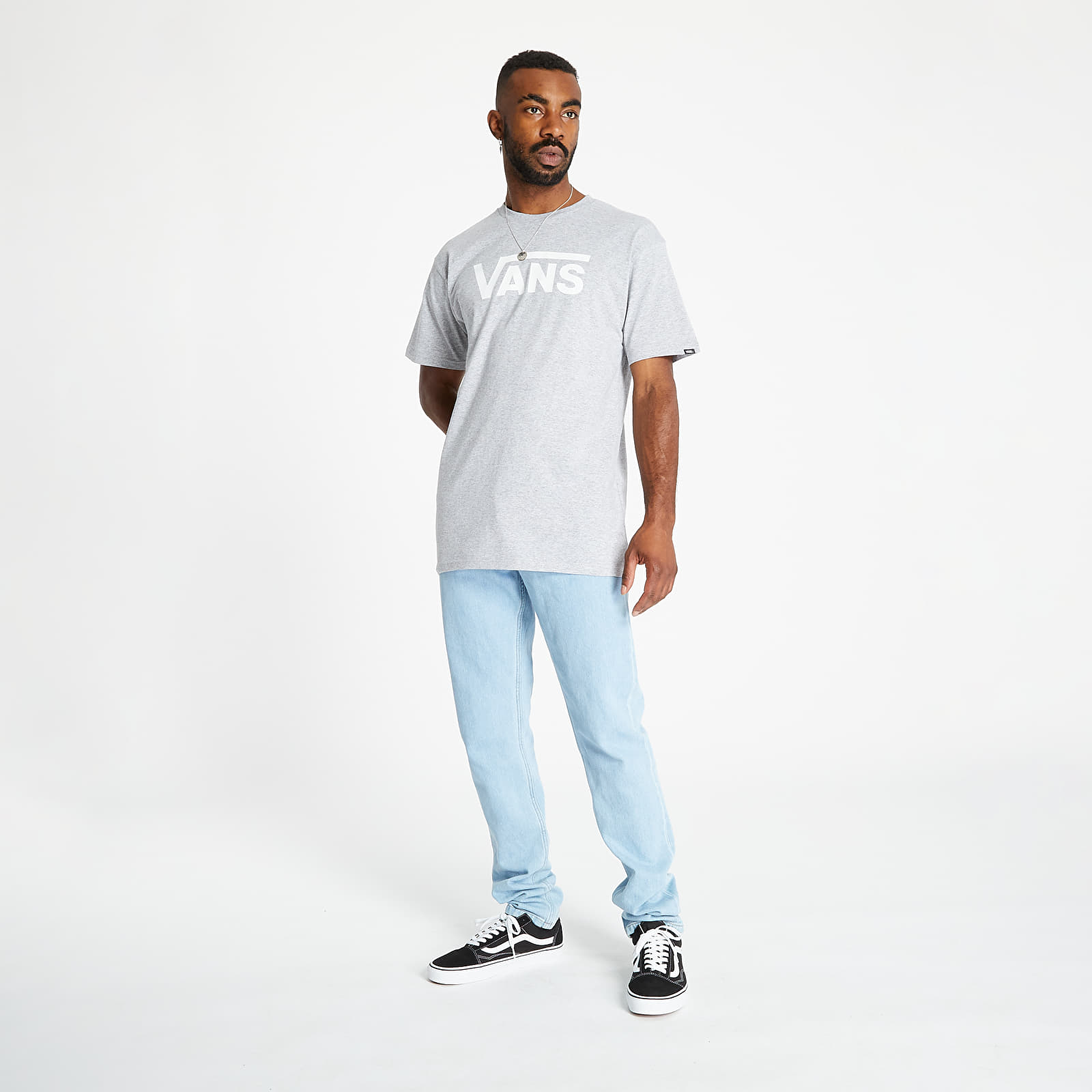 T-shirts Vans Classic Tee Athletic Heather/ White