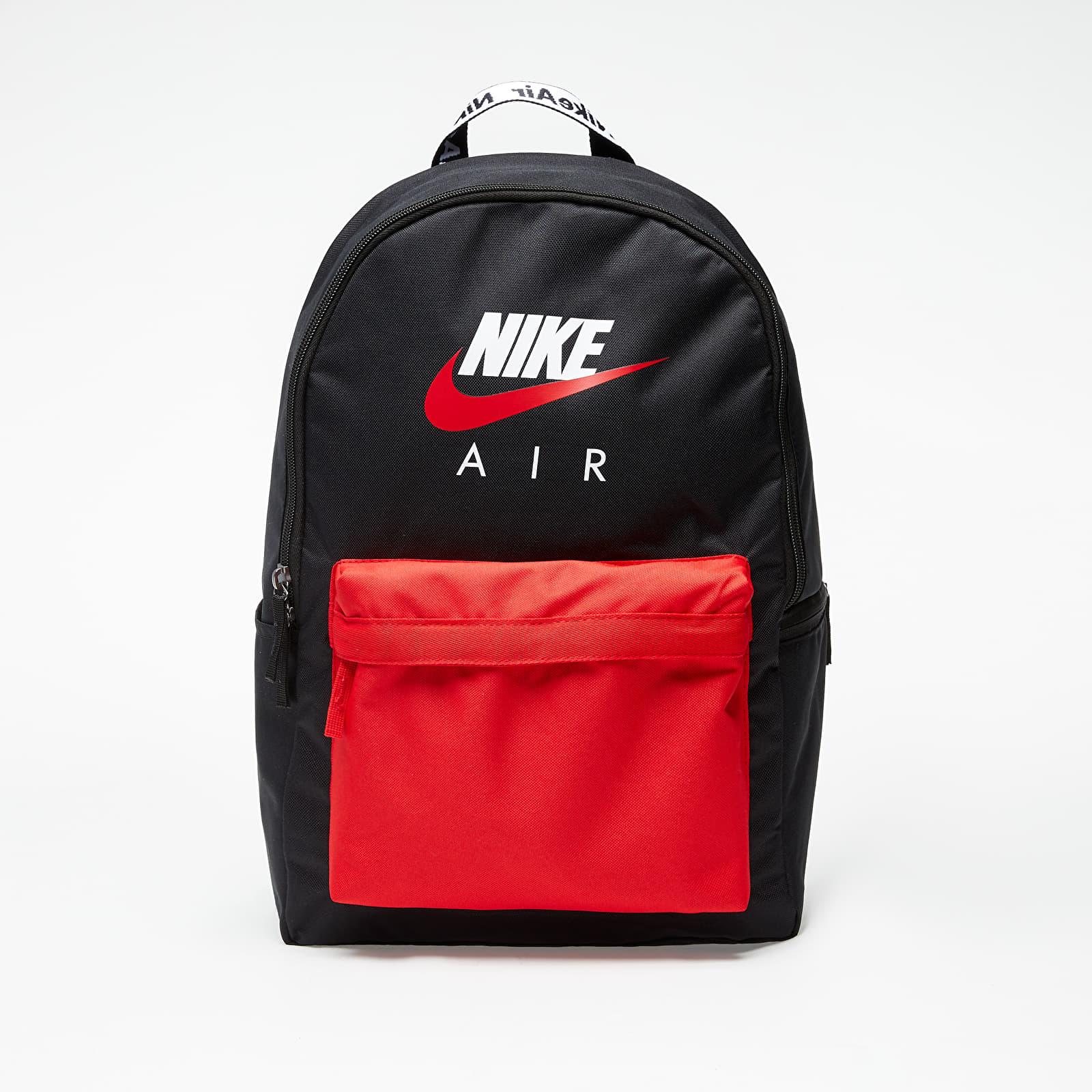 Batohy Nike Air Heritage Backpack Black/ University Red/ University Red