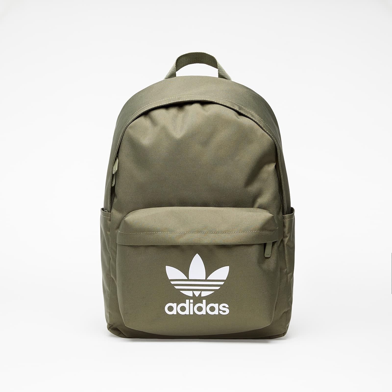 Rucsacuri adidas Adicolor Classic Backpack Raw Khaki/ White