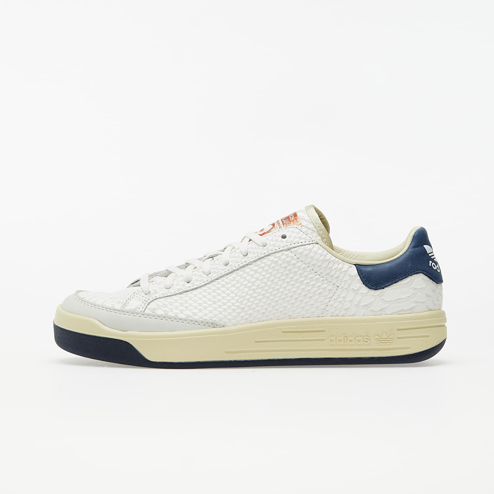 Men's shoes adidas Consortium Rod Laver Reptile Core White/ Core White/ Collegiate Navy