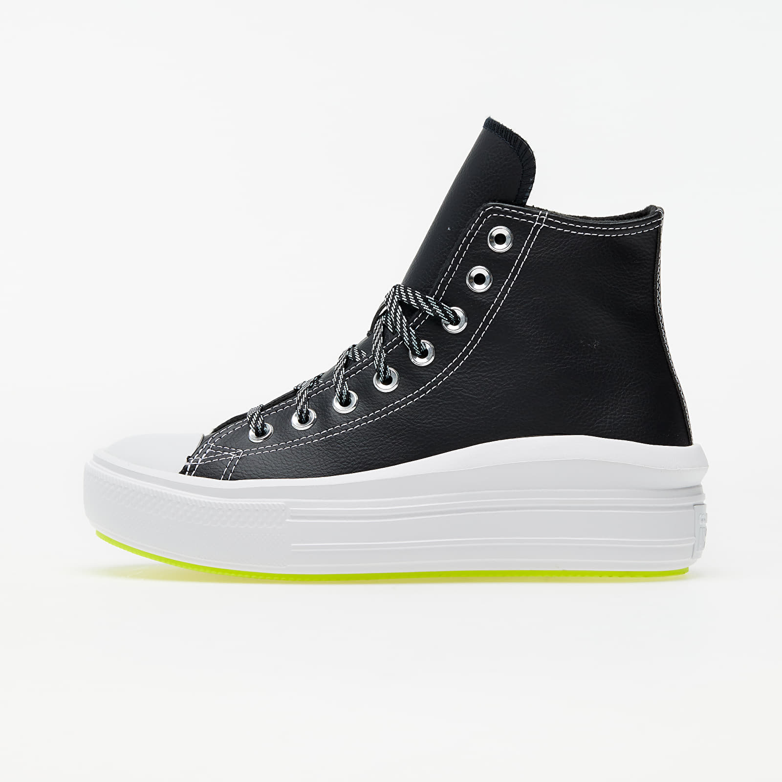 Women's shoes Converse Chuck Taylor All Star Move Hi Black/ Lemon Venom/ White