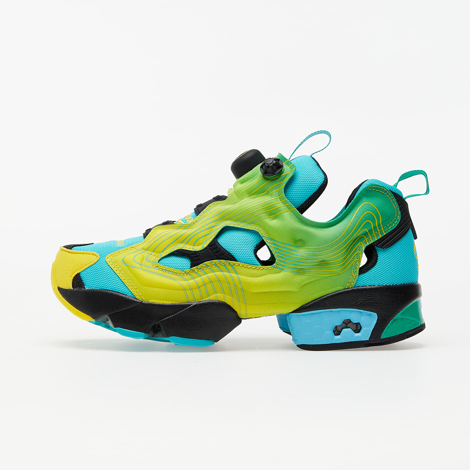 Men's shoes Reebok Instapump Fury Emerald/ Ale Yellow/ Glam Blue