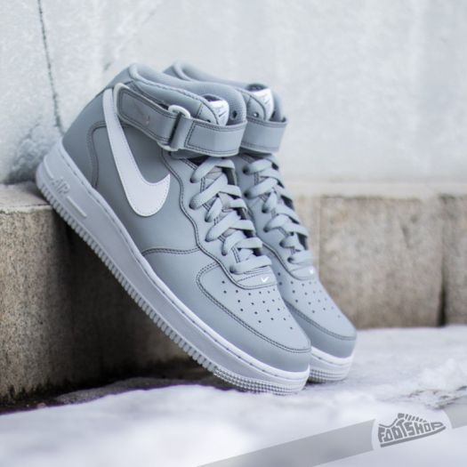 nike air force mid wolf grey