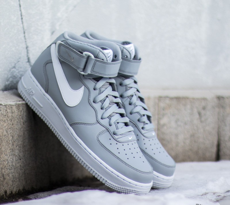 the best attitude 86974 f17b0 Nike Air Force 1 Mid 07 Wolf GreyWhite