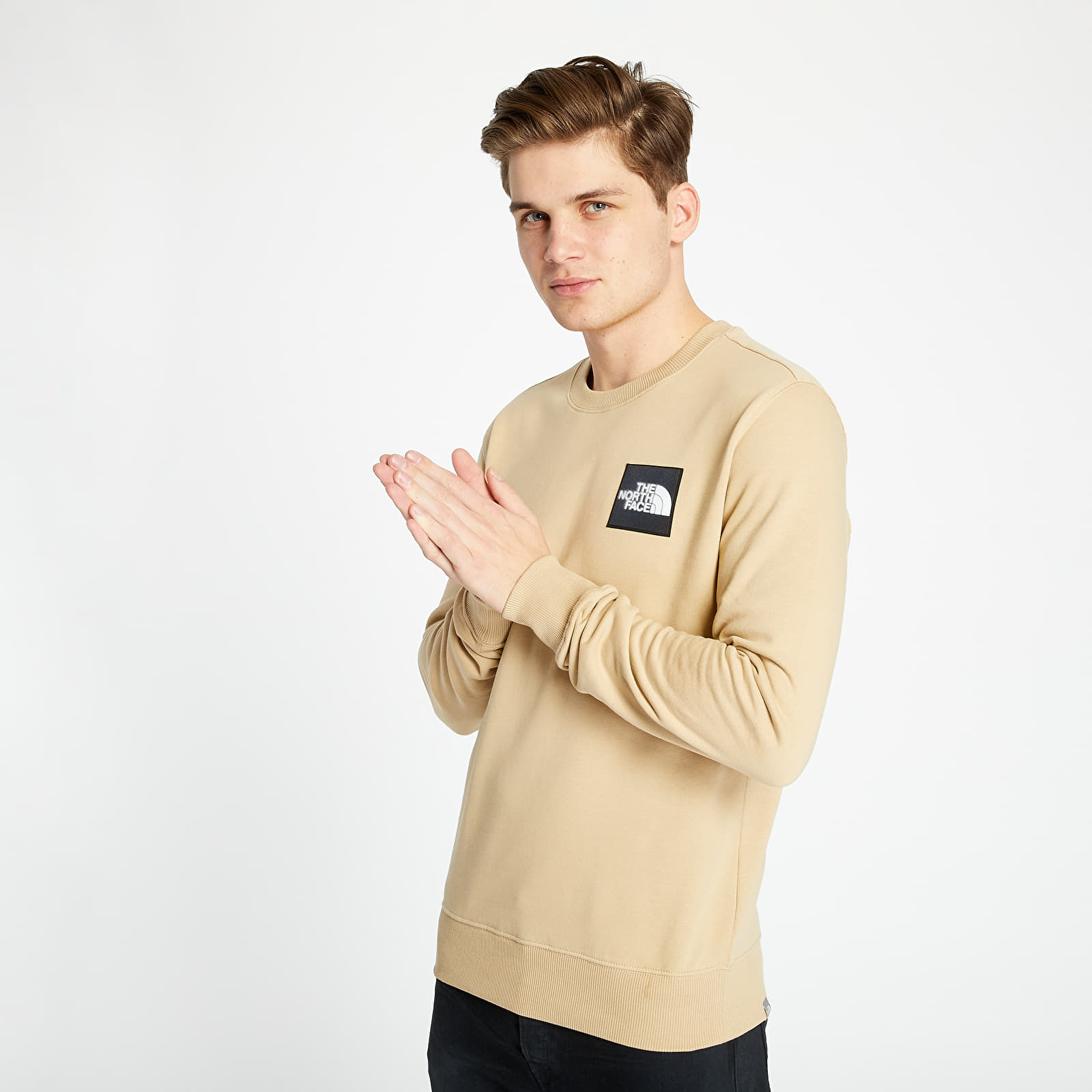 Hanorace și bluze The North Face Blackbox Logo Crew Hawthorne Khaki