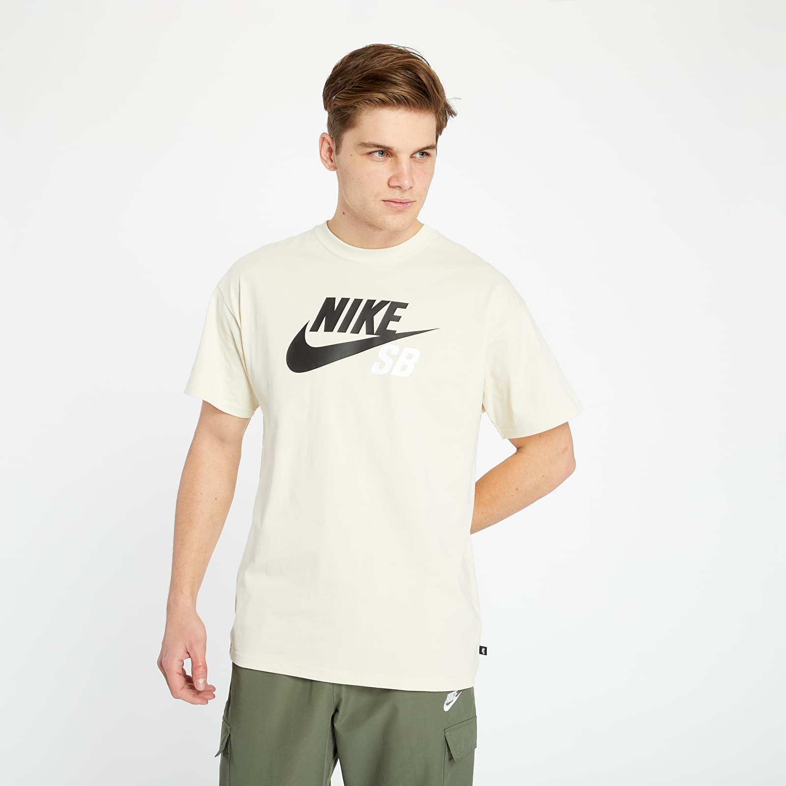 Nike SB Men's Logo Skate Tee Fossil/ Black S