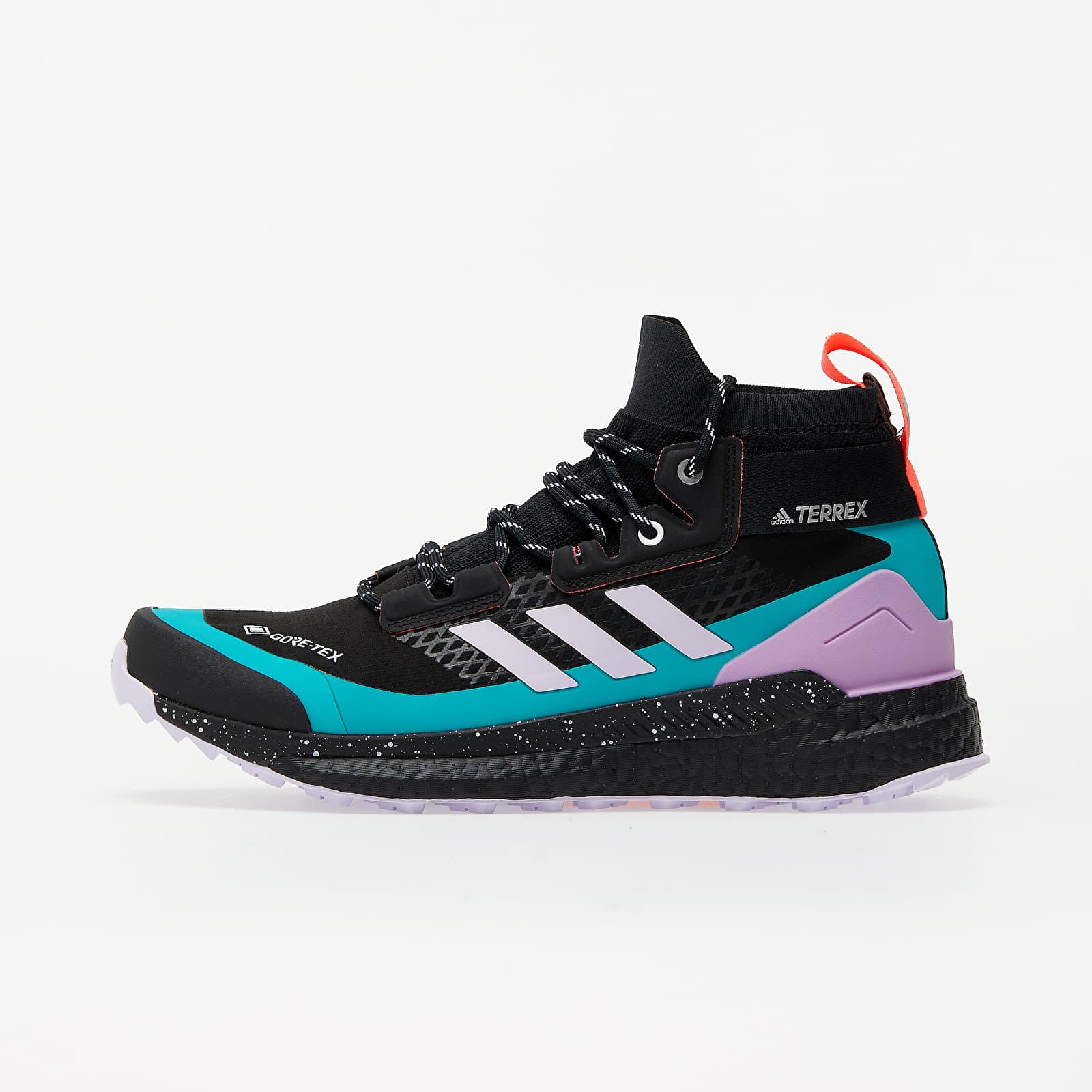 Dámské tenisky a boty adidas Terrex Free Hiker GTX W Core Black/ Purple Tint/ Signature Pink