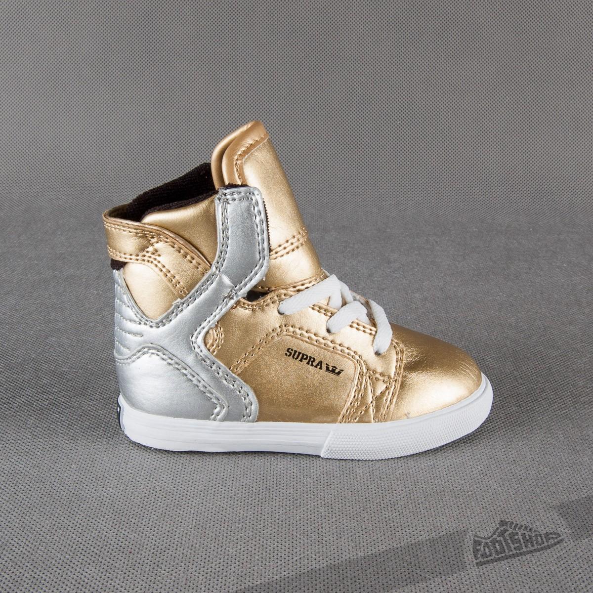 Dětské Supra Baby Skytop Chad Muska Pro Model Gold Silver  85763108f51