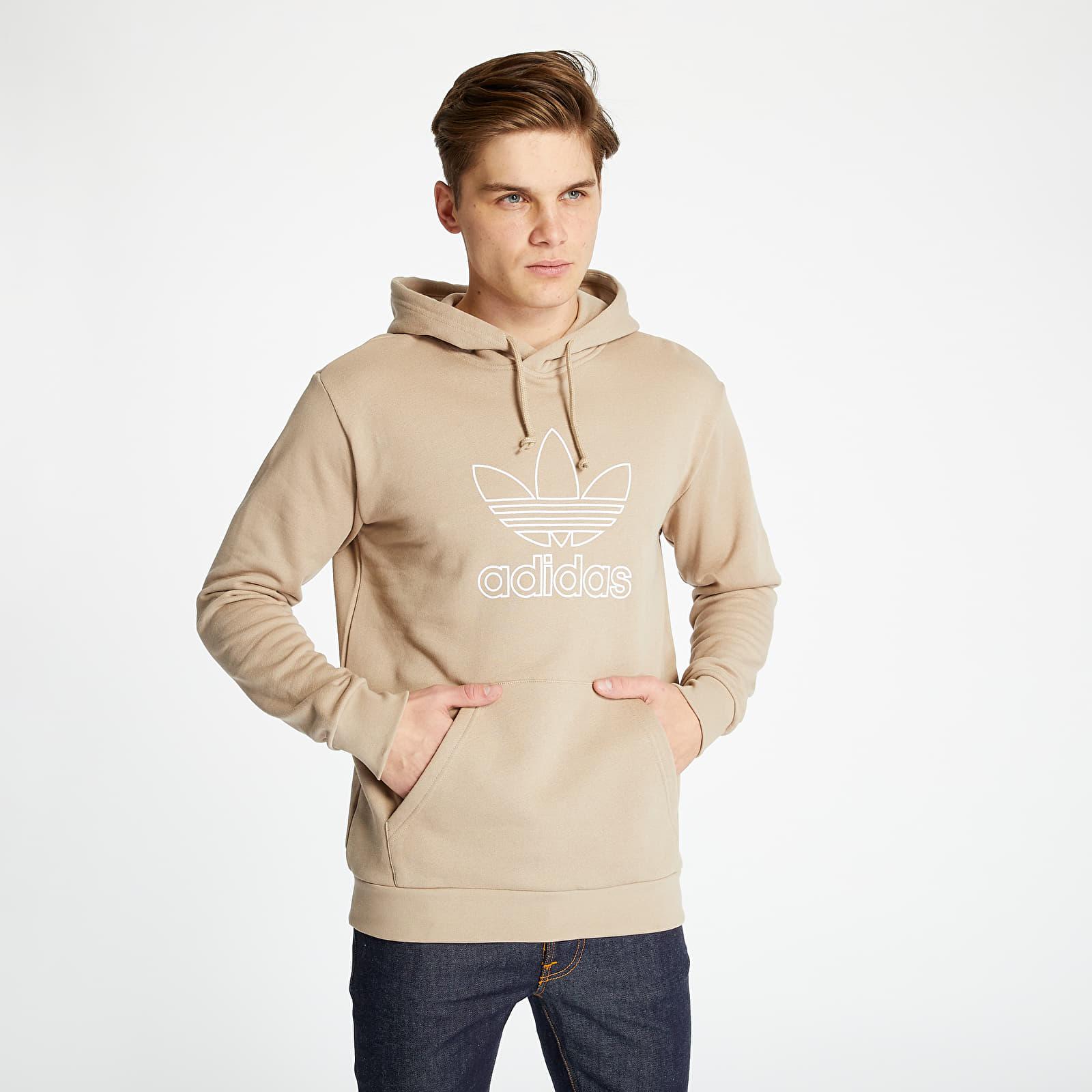 Sweatshirts adidas Trefoil Hoodie Out Trace Khaki
