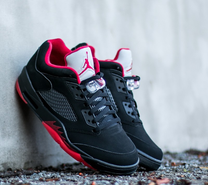 timeless design 51b80 fc62e Air Jordan 5 Retro Low Black  Gym Red- Black- Metallic Hematite
