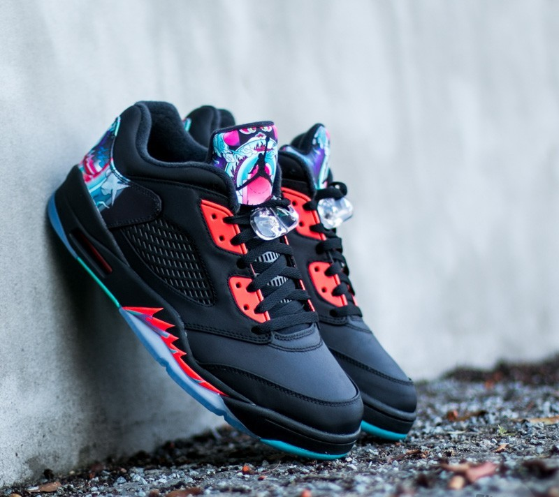 26e825ce9dee Air Jordan 5 Retro Low Chinese New Year Black  Black-Bright ...