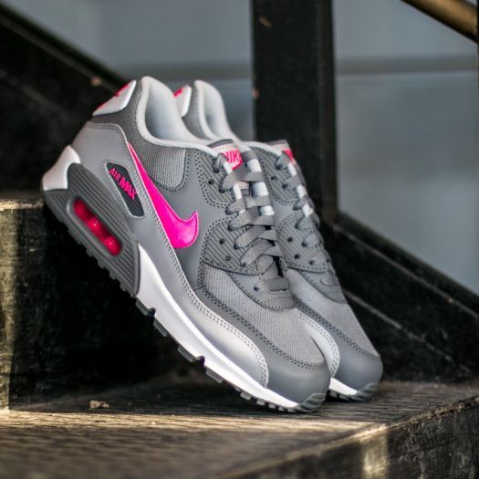 Nike Air Max 90 Mesh (GS) Cool Grey Hyper Pink Wolf Grey White | Footshop