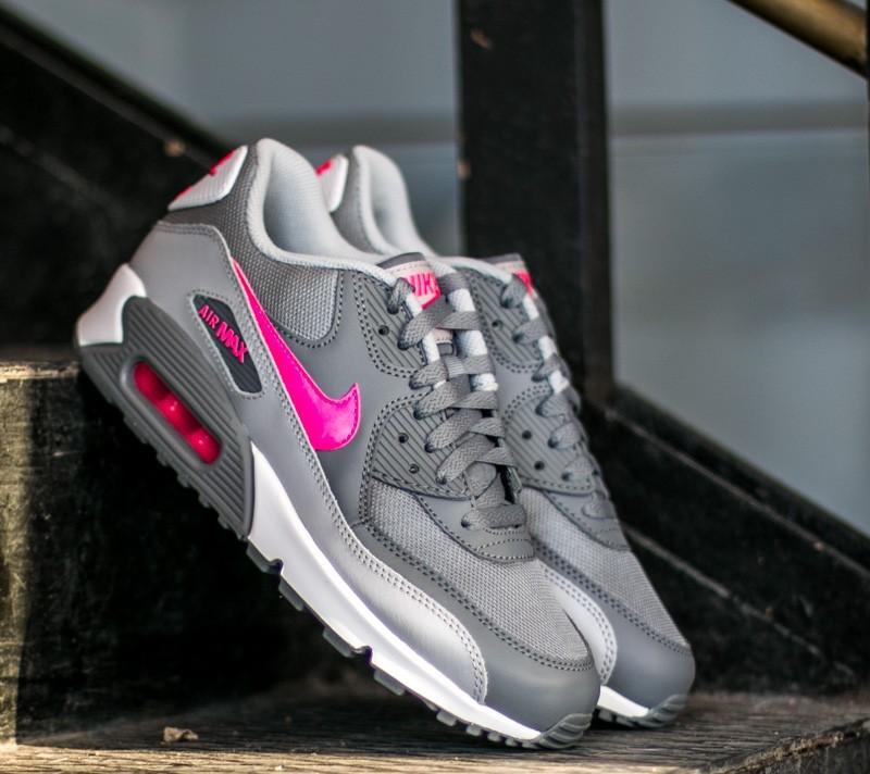 4325e93399b2 Nike Air Max 90 Mesh (GS) Cool Grey  Hyper Pink-Wolf Grey-White ...