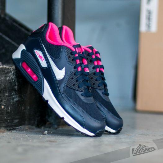 Nike Air Max 90 Mesh (GS) Anthracite White Hyper Pink