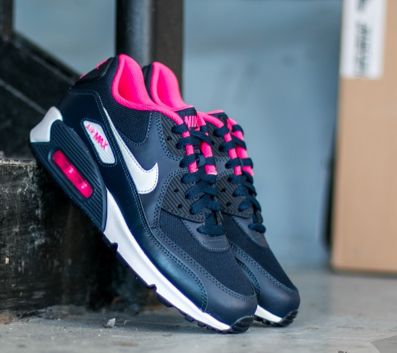 Nike Air Max 90 Mesh (GS) Obsidian  Pure Platinum-Hyper Pink-White ... f50be61fe