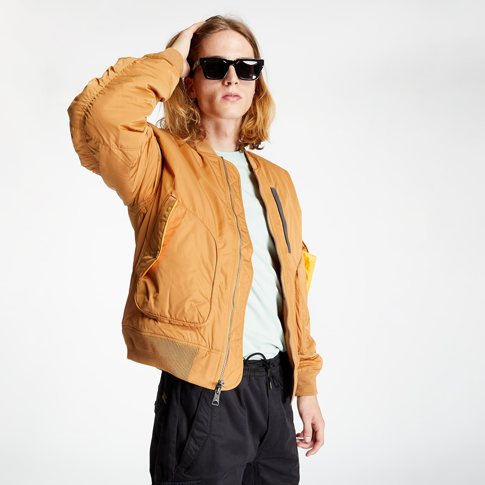 Bundy Jordan Ma-1 Jacket Flax/ Total Orange