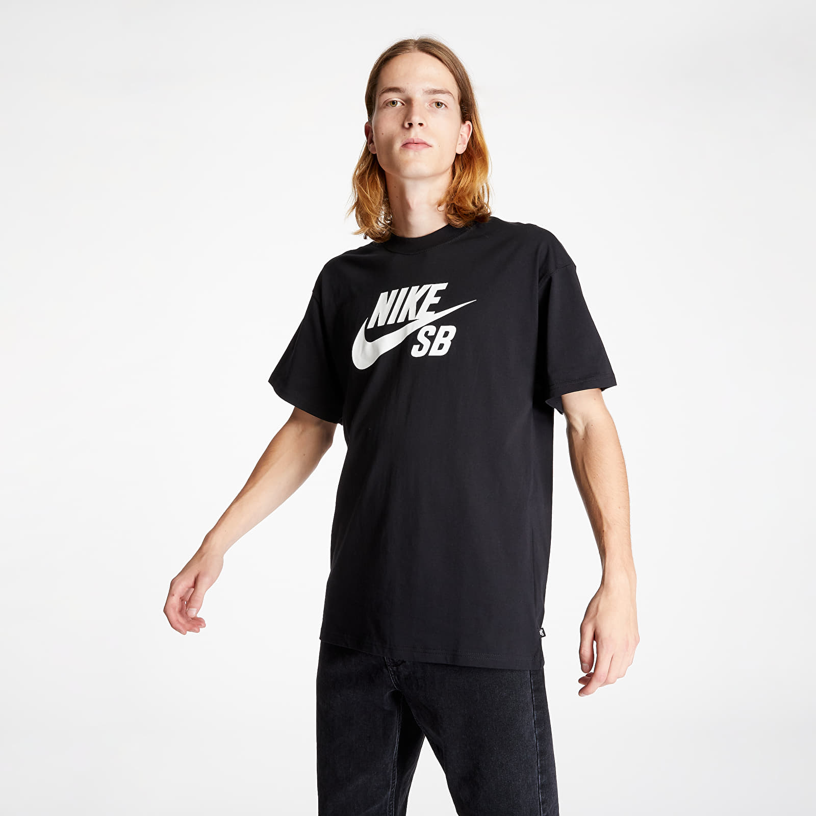 Nike SB Logo Skate Tee Black/ White S