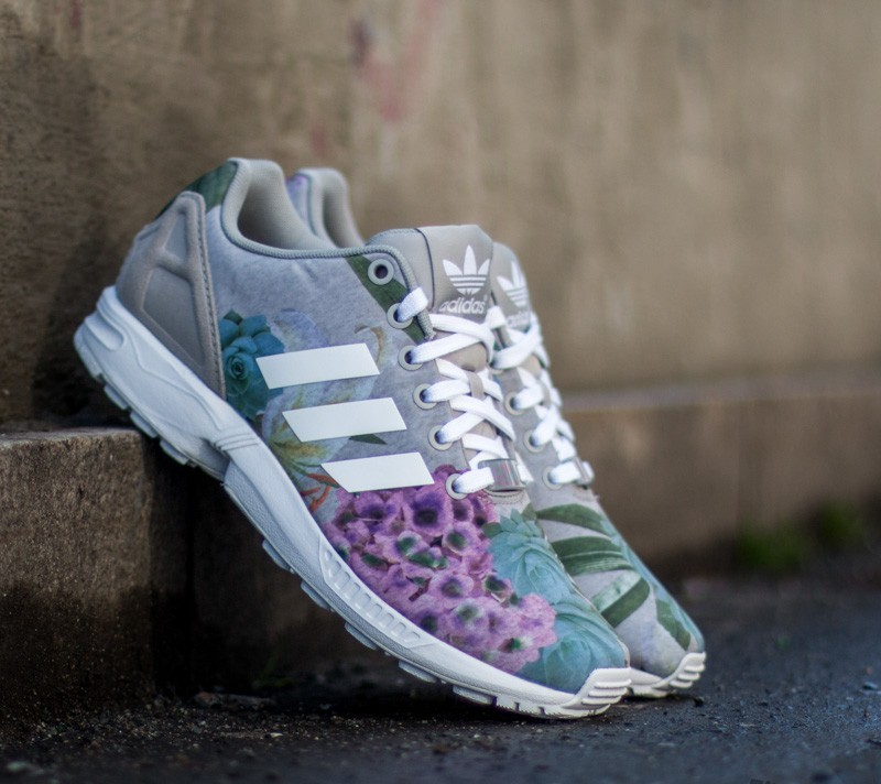 huge discount bd800 1f8d7 adidas ZX Flux W Mgh Solid Grey Ftwr White Lush Pink