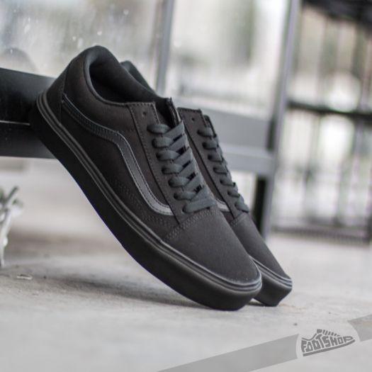 Vans Old Skool Lite+ Canvas Black Black   Footshop