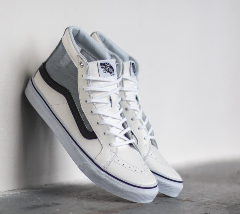 5df56590775b Vans Sk8-Hi Slim Cutout (Mesh) White  Black