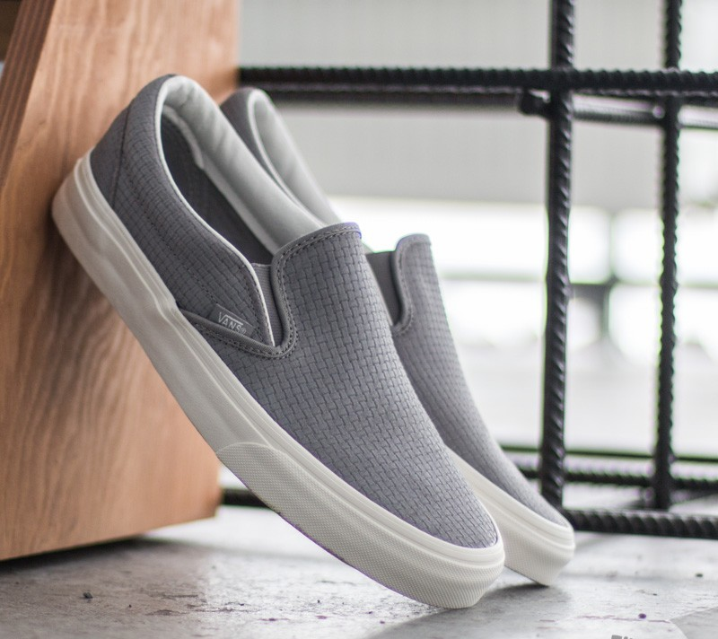a778a8299c Vans Classic Slip-On Braided Suede Wild Dove