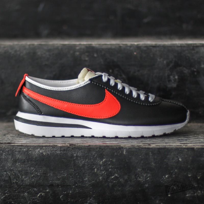Nike Roshe Cortez NM Leather BlackTm Orange White Safety