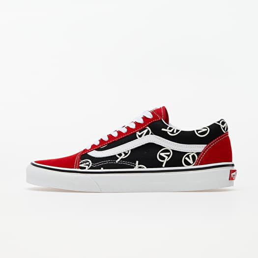 Sneaker Vans Vans Old Skool (Circle V) Red/ Black